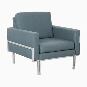 Blue Armchair in Knoll Parallel Bar Style