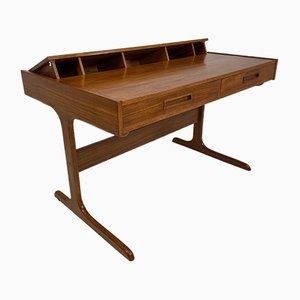 Mid-Century Danish Desk with Pop Up Compartment