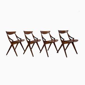 Modell 71 Stühle von Arne Hovmand Olsen für Mogens Kold, 4er Set