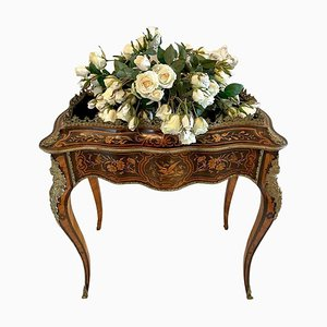Antique Louis XV Tulipwood & Kingwood Jardiniere Table with Marquetry