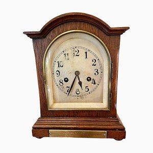 Antique Oak Bracket Clock with 8-Day Striking Movement