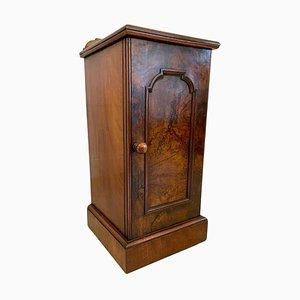 Antique Victorian Burr Walnut Bedside Cabinet or Nightstand