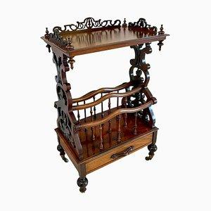 Antiker viktorianischer Canterbury Schrank aus Palisander
