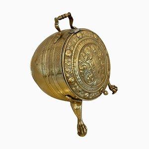 Antique Victorian Brass Log Bucket