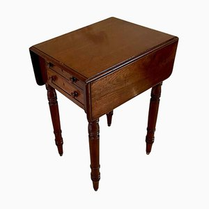 Small Antique Victorian Mahogany Table with 2 Drop Leaves