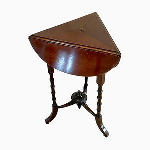 Small Antique Victorian Mahogany Drop Leaf Lamp Table