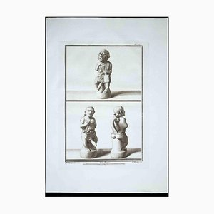 Filippo Morghen, Phallus Fascinum in Ancient Roman Religion, Etching by Filippo Morghen, 1700s