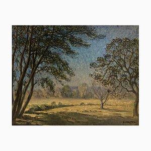 Edouard Chappel, Symphony Blue, 19. Jh., 1889, Öl auf Leinwand