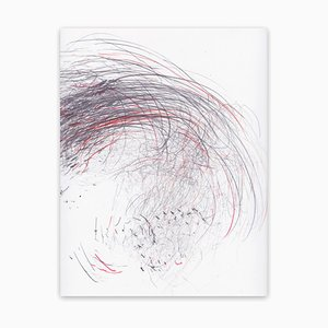 Screech of Ice Series 41, Abstract Drawing, 2017