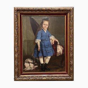 Eugenio Spreafico, Kinderbildnis, 19. Jh., Öl auf Leinwand
