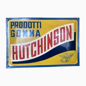 Insegna Hutchinson antica in latta, anni '20