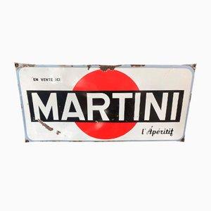 Martini Enamel Sign, 1950s