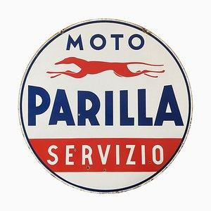 Cartel de Parilla Moto esmaltado, Italia, años 50