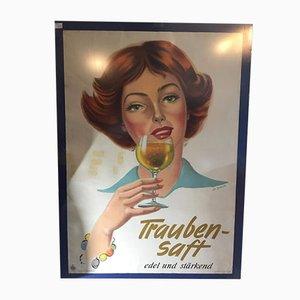 Poster di succo d'uva di Al Bohrer, anni '50