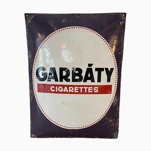 Emailliertes Schild Garbaty Zigaretten, 1920er