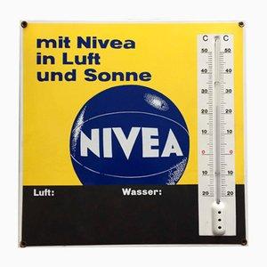 Cartel de Nivea con termómetro, años 60