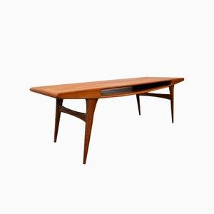 Table Basse Vintage en Teck avec Ouverture Sourire, Danemark