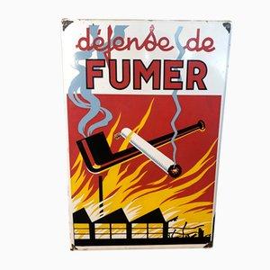 Defense de Fumer Sign