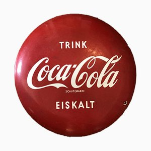 Emailliertes Coca Cola Schild, 1950er