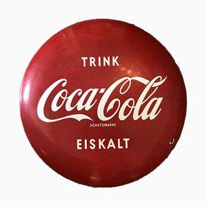 Insegna Coca Cola smaltata, anni '50