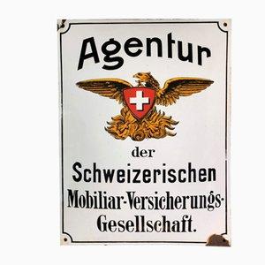 Mobiliar Versicherung Schweiz Schild, 1930er