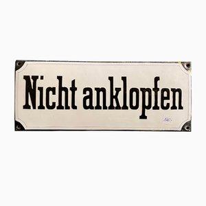 Emailliertes Schild, 1920er
