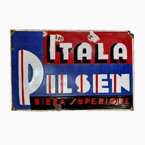 Itala Pilsen Schild, Italien, 1920er