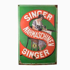 Cartel de máquinas de coser Singer, años 30