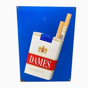 Cartel de cigarrillos Ladys, años 50