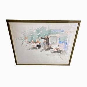 Hans Mitze, concierto, pintura original