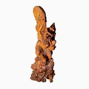 Statua in legno intagliato, Indonesia, anni '70