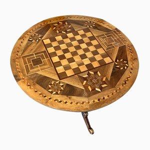 Antiker Brienz Schachbrett Tisch mit Intarsien