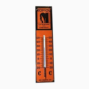 Panneau Thermomètre Komol en Émail, 1930s