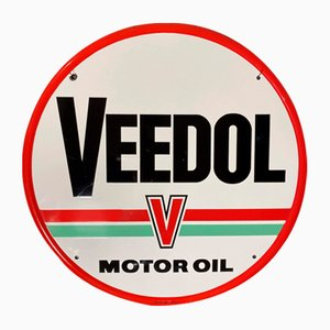 Insegna Veedol vintage smaltata