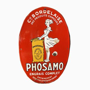 Emailliertes Phosamo Schild