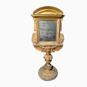 Barocker Spiegel mit vergoldetem Holzrahmen, 1700er