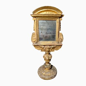 Baroque Gold Plated Wood Mirror, 1700s
