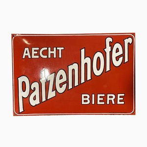 Emailliertes Patzenhofer Schild, Berlin, 1910er
