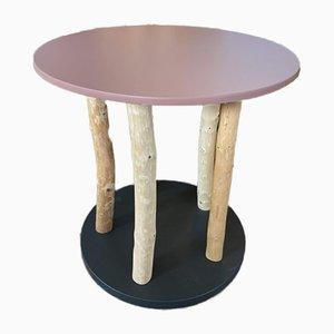 Die Superhändler Coffee or Side Table with Pink Table Top