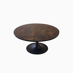 French Iron & Slate Coffee Table from Ligne Roset, 1970s