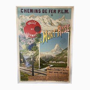 Hugo d'Alesi, Le Mont Rose, Zermatt Valley, 1900s