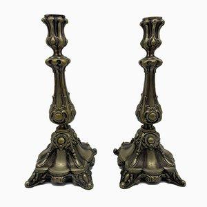 Antike Kerzenständer von Jürst & Co. Berlin, 2er Set