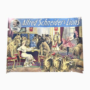 Antikes Poster, Alfred Schneiders, Löwen, 1900
