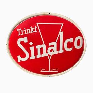 Cartel de chapa Sinalco, años 50