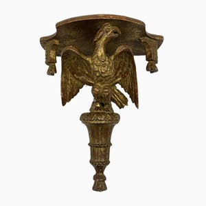 Antique Console with Gold-Plated Eagle