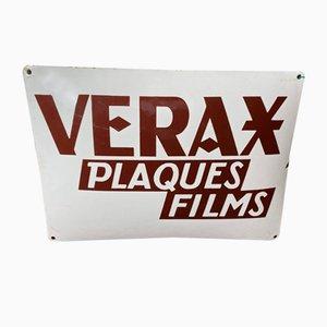 Emailliertes Schild für Verax Photo, 1930er