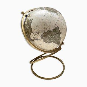 Brass Spiral Base Earth Globe, 1990s