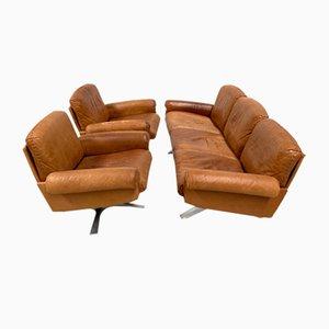 Swiss Vintage DS-31 Living Room Set in Cognac Leather from De Sede, Set of 3
