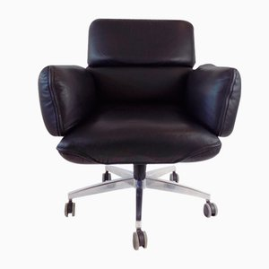 Office Leather Armchair by Otto Zapf for Topstar