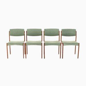 Esszimmerstühle von Brahmin, Dänemark, 1960er, 4er Set